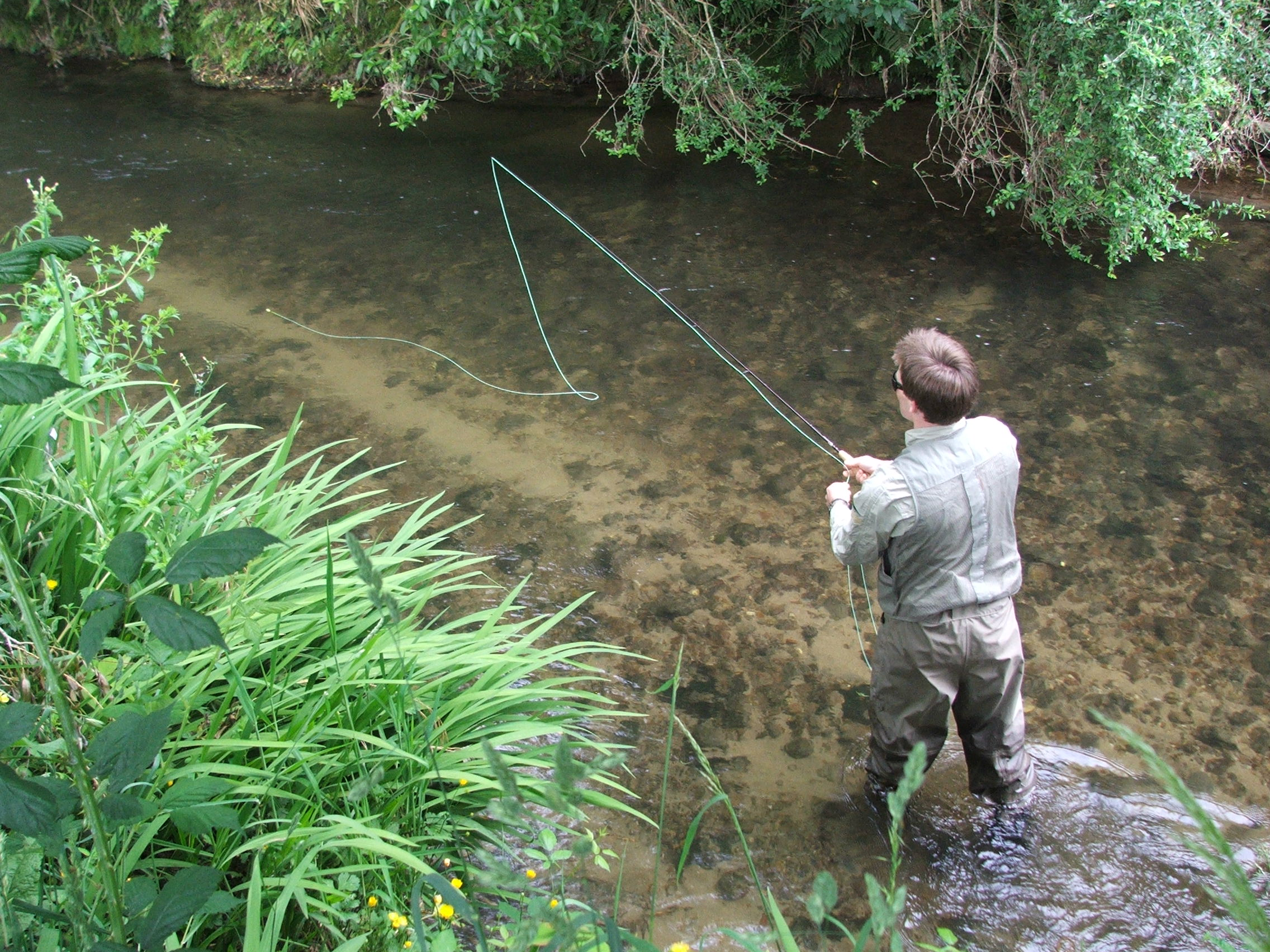 Early season fishing on the Ngongotaha Stream 2.