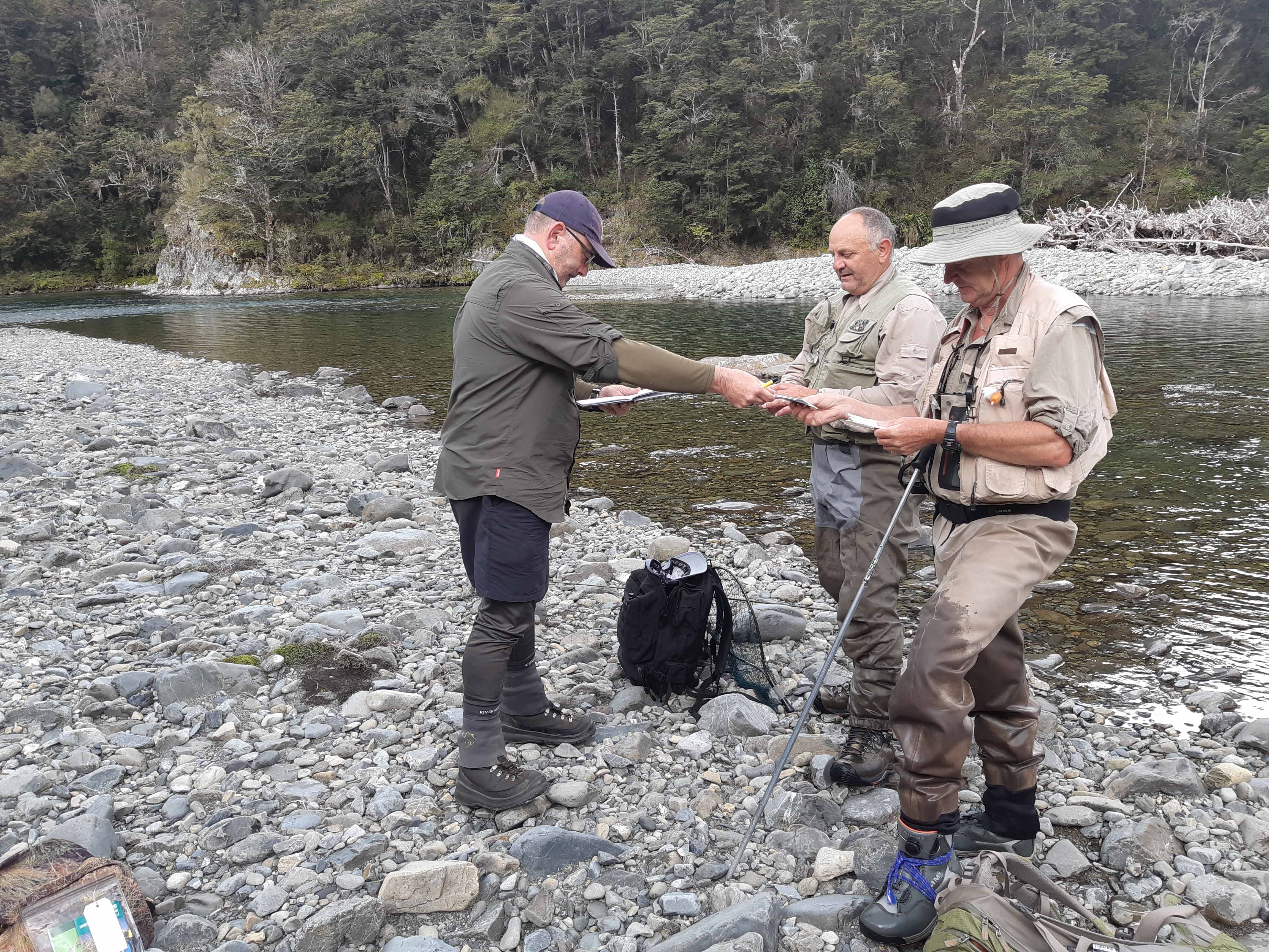W A Fish Game ranger checking backcountry licences in the Upper Rangitikei Hamish Carnachan