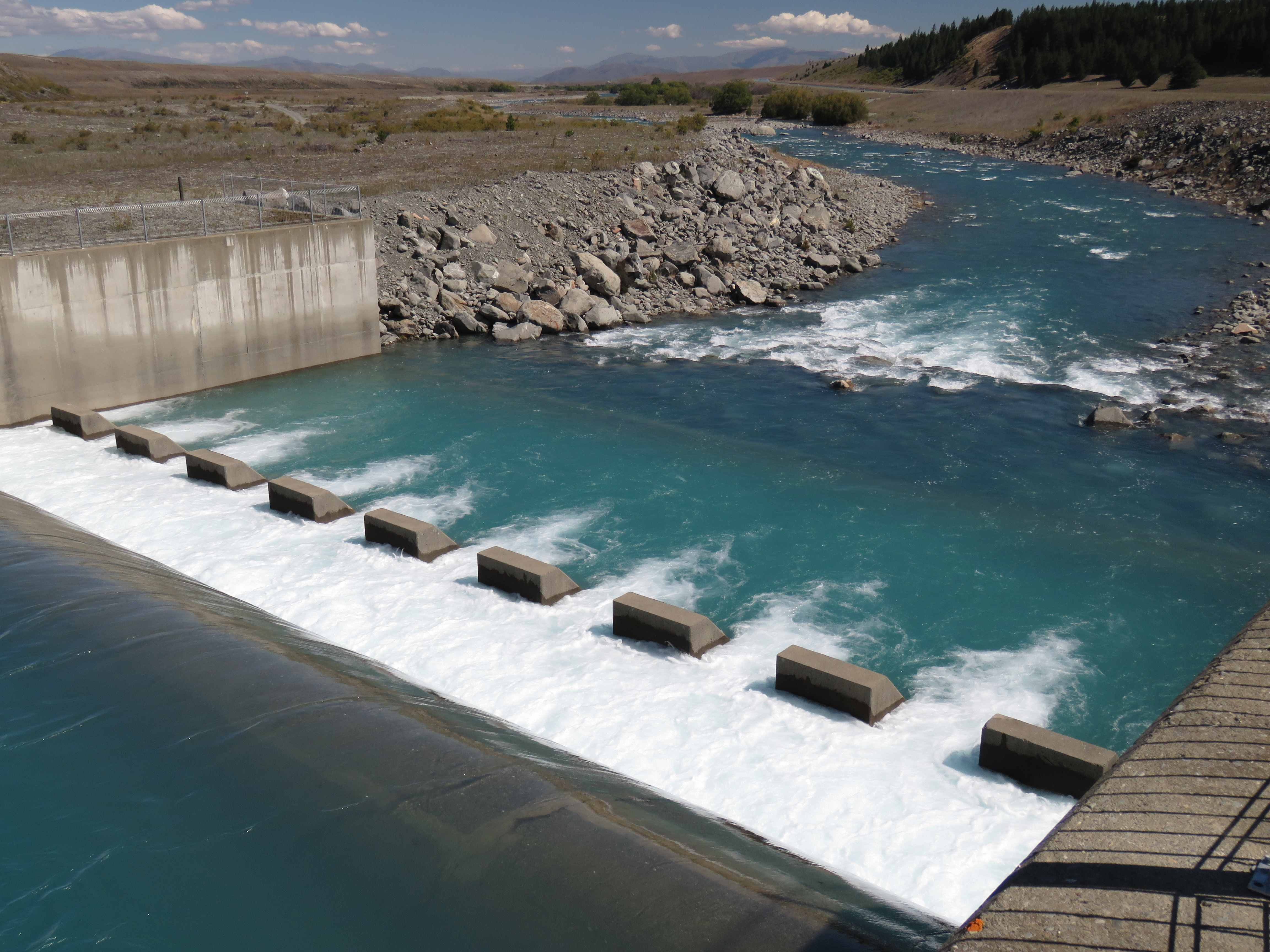 WFR1718.37 the Tekapo River Spillway brings the upper Tekapo River back to life