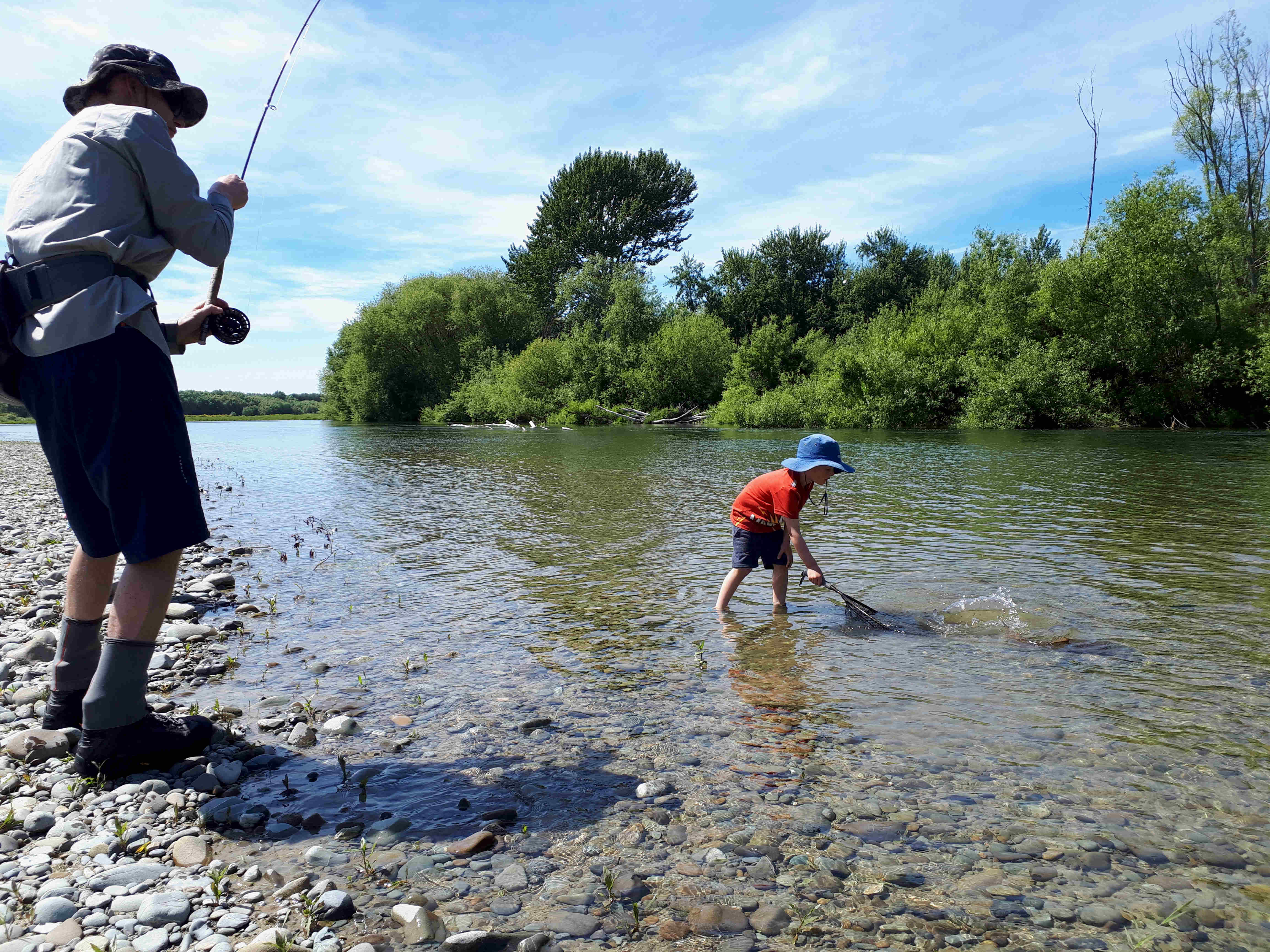 WFR1920.22 rivers like the Opihi offer good flows and excellent sight fishing currently Credit K De Lange