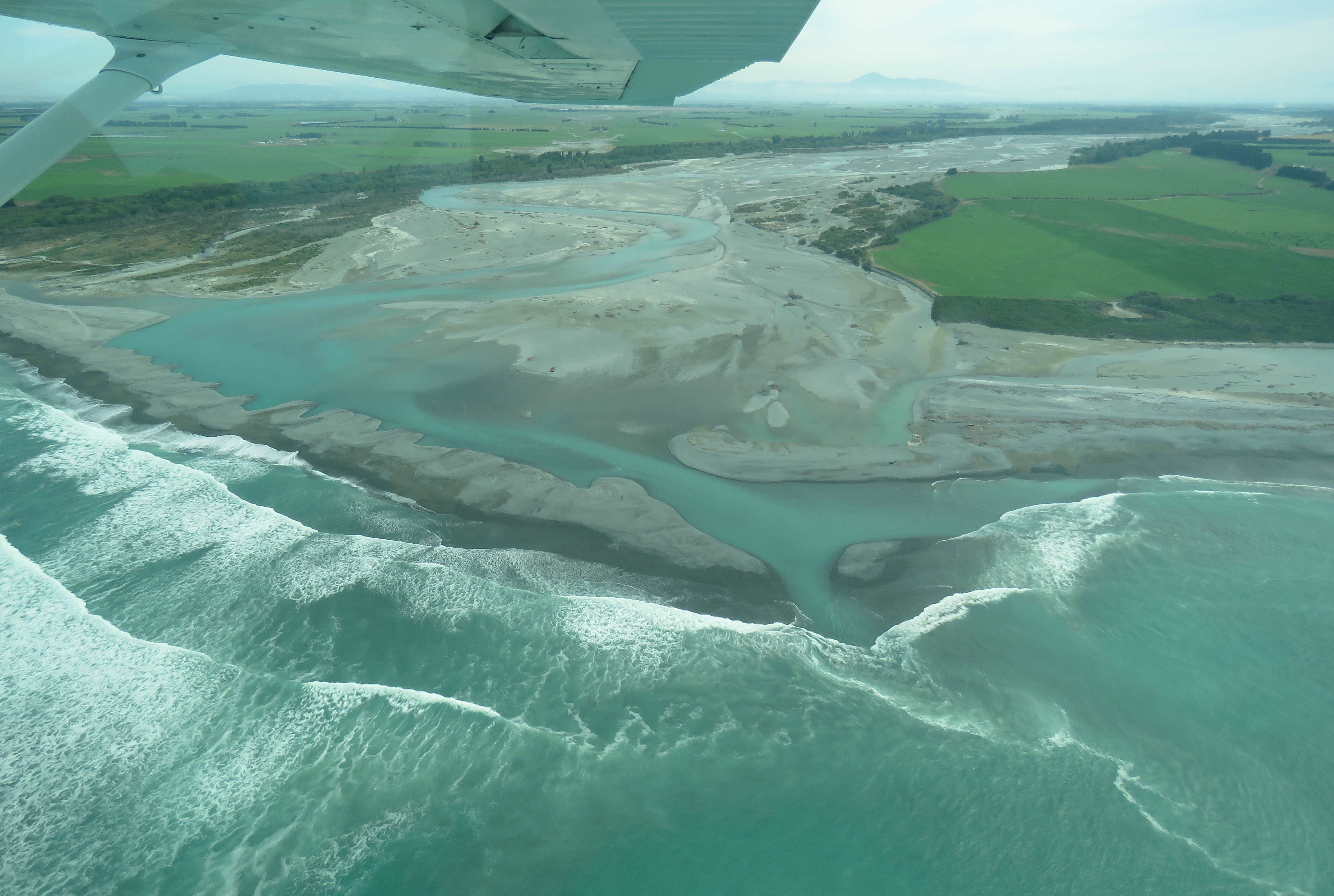 WFR1920.48 The Rangitata River mouth on Tuesday the 28th of January Credit R Adams