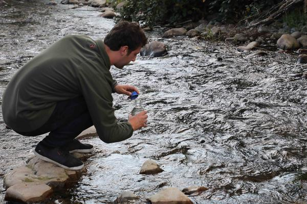 Meet the future - what water samples can tell us about trout and salmon