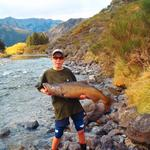 This was my biggest salmon to date.28lb salmon caught in the upper Hurunui river while fishing for trout. This fish was released to spawn. Great days fishing:} Photo from patrick mcfadden