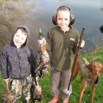 Young duck hunters doing well. Photo from Riley and Jessy Gillions of Tapanui