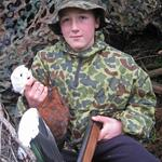 Young Shelduck Hunter, Southland. Photo from Anonymous