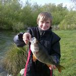 4 pound perch, on a soft bait Photo from William Lochhead