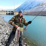 Largest Rainbow - personal best. Caught on the Sage. 11.5lb - 30 min to land. Photo from Robert Anson