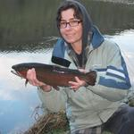 Cracker 3lb Salmon from Sullivans dam Dunedin. Photo from Sarah the Salmonator