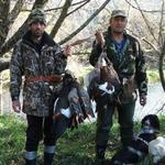 Duck shooting in the Motueka River, Nelson / Marlborough Region. Photo from Anonymous