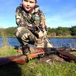 Henri's first duck shooting on his 7th Birthday. His first duck!! Photo from Henri Dillon