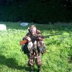 Connor 13 years opening morning may 2015 hunting with his 20 gauge Photo from Connor D`Arcy