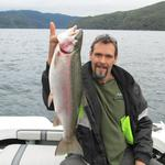 Caught by Cade Register of Taupo, on Lake Okataina, last fish of the day. Photo from Lance Shepherd