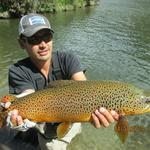 Finaly i caught it !!, my trophy brown trout after 20 years fishing in patagonia and now here. Photo from Gabriel Mödinger