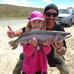 My daughter Giorgia landed this fish in the Tekapo Canals weighing 6.8lb. Photo from James Petronelli