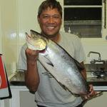 my mate first fishing season 2011-2012, 1st catch Photo from melvin arnigo