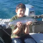 1.5kg Rainbow caught at the Kai-Iwi Lakes competition 2013, Second Place in kids section. Great weekend ! Photo from KALANI SNOOKS