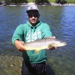 first fish on a fly rod using para adams Photo from Anthony Hoko