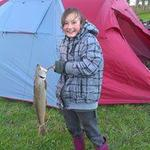 This was Victoria's first fish ever caught. Photo from Nicky Kelly
