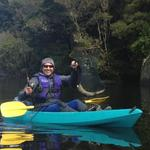 Kayak lake fishing on the West Coast of the South Island Photo from Chris
