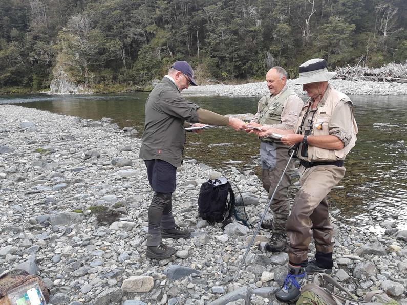 A Fish Game ranger checking backcountry licences in the Upper Rangitikei Hamish Carnachan