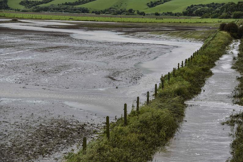 A Southland stream is dirtied by sediment washed from a poorly prepared crop paddock December 2018 DSC 3547 1