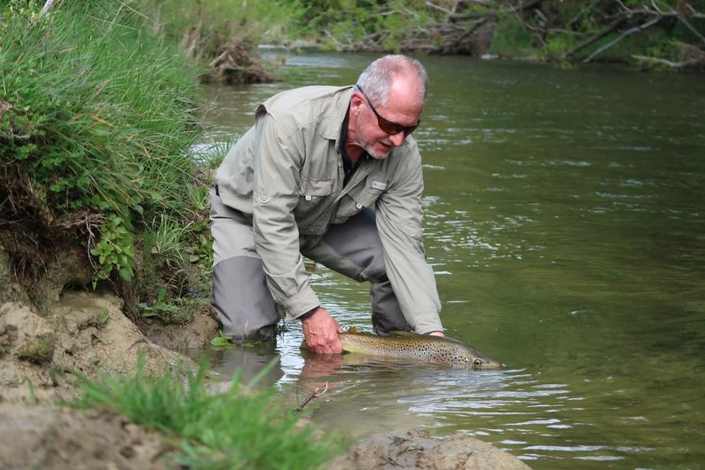 Gary dinnie releasing an early season brown