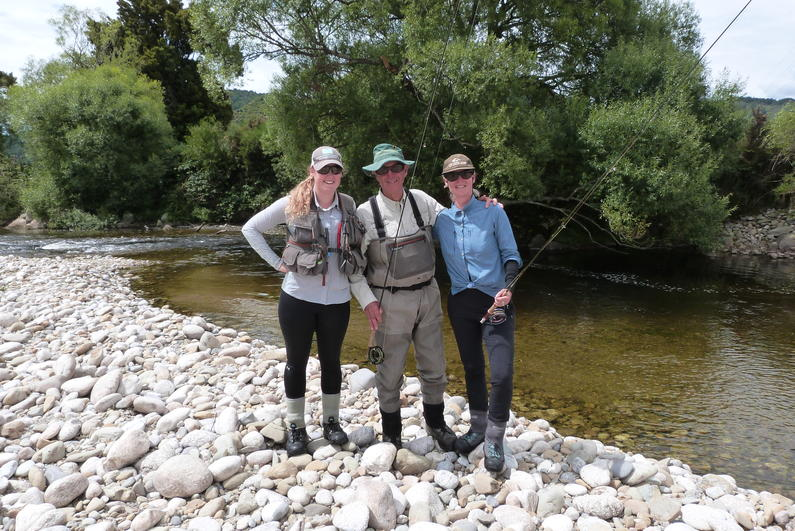 Hannah Clement Michael Sexton And Mary Sexton Enjoying A Days Fishing in The Grey Valley
