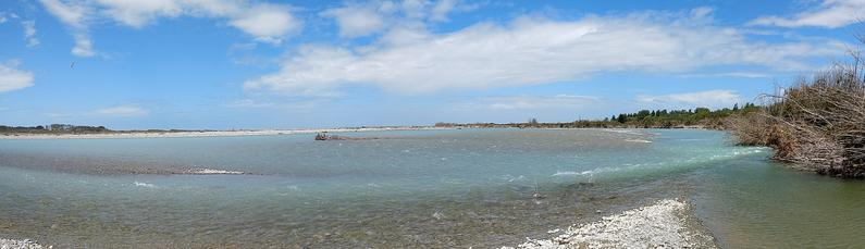 Lower reaches of the Rangitata Currently a good colour