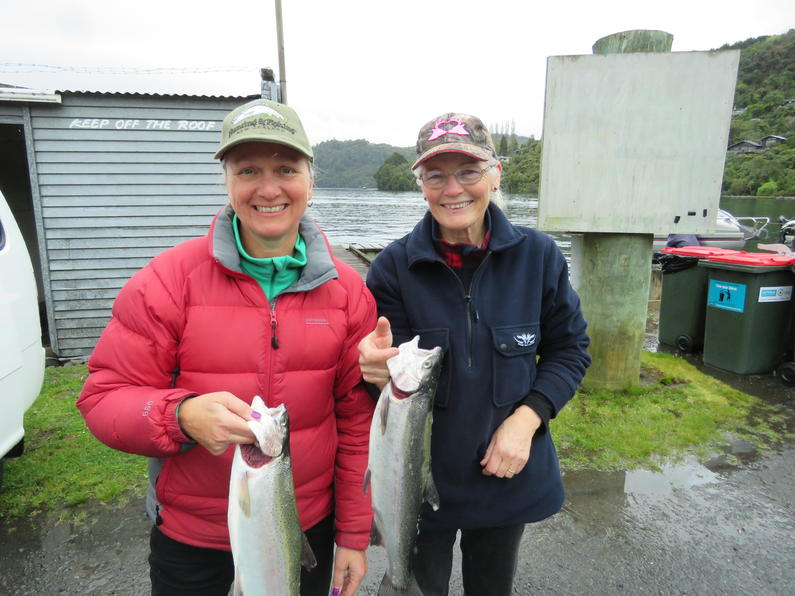 NEW FISHING SEASON OCT 1 17 Sue Rasdal left and Sandra Carrington Lake Tarawera