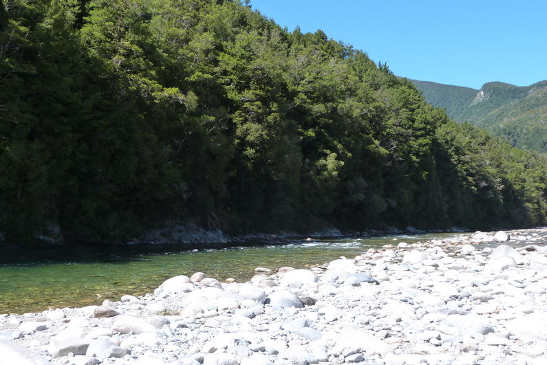 The Karamea River during excellent autumn weather March 2017