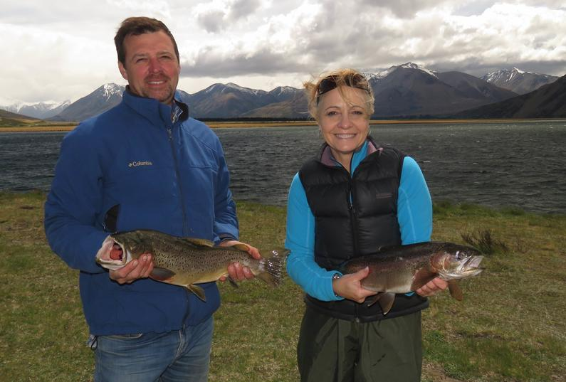 WFR1819.13 Matthew Broatch and Colette Brown successfully fished Lake Heron in the gales credit Rhys Adams