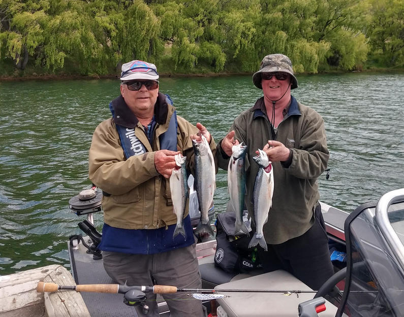 WFR1920.55A very successful sockeye fishing outing on the Ahuriri Arm of Lake Benmore
