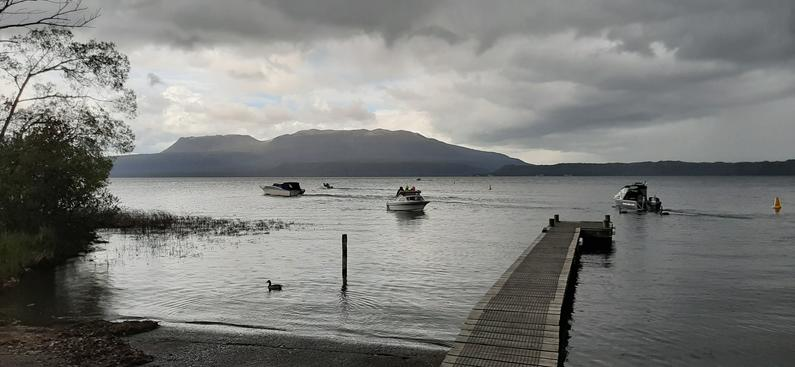 anglers head out onto tarawera at opening