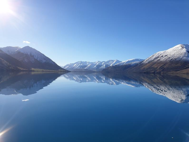 lake coleridge on a windless day