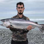 3rd salmon for the season and probably my best all round condition and size fish......stoked as, caught at rakaia river mouth approx 7:45pm 10th Jan 