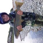 Sons first trout on his first day fishing.        3 1/2lb