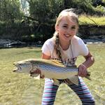 Neeve is 12 years old and has been fly fishing for a couple of years now.