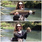 My first rainbow trout that I landed as a NZ resident, and the winning trout for the November fishing contest held by the Taupo Fishing Club!