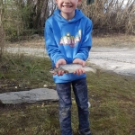 I'm leo I'm nearly 8 and this was the first fish I've ever caught.  I caught  it on a 12g black and gold toby.